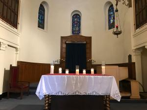 candles at Memorial Day Service 2017
