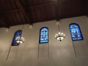 windows in Post Chapel