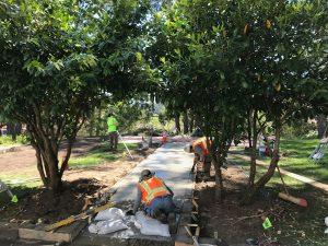 Access to memorial garden
